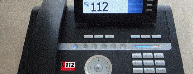 Telefon mit Notrufnummer 112